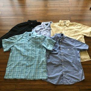 Bundle of 5! Men's dress shirts All size XL